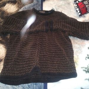 Woven great sweater